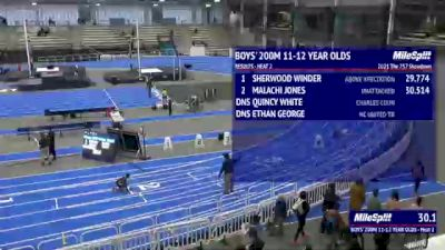 Youth Boys' 200m, Finals 3 - Age 11-12