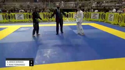 ABIGALE GRACE GERISCH vs TAINA ROSE FERNANDEZ 2021 Pan Kids Jiu-Jitsu IBJJF Championship