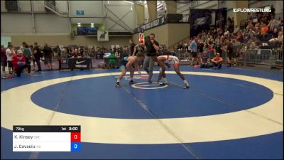 79 kg Round Of 64 - Krystian Kinsey, Cavalier Wrestling Club vs Jacob Covaciu, Indiana