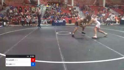 70 kg Consolation - Ridge Lovett, Nebraska Wrestling Training Center vs Brayton Lee, Gopher Wrestling Club - RTC