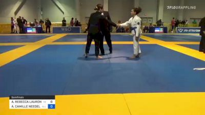 ALYSSA REBECCA LAURON WALLS vs ALEXANDRIA CAMILLE NEEDELS 2021 American National IBJJF Jiu-Jitsu Championship