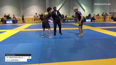 RENE JONATHAN GALLEGOS vs DOMENIC A. HURTADO 2021 American National IBJJF Jiu-Jitsu Championship