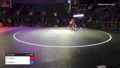106 lbs 3rd Place - Michael Longo, Connecticut vs Christian Forbes, Oklahoma
