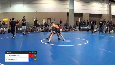 145 lbs Final - Daniel Cardenas, Team Kong United vs Angelo Ferrari, Team Shutt