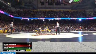 125 lbs 7th Place - Devin Schroder, Purdue vs Drew Mattin, Michigan