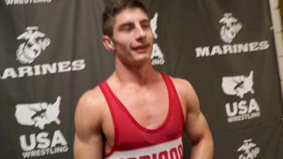 195 lbs - Lucas Davison, IN Junior Greco-Roman Fargo Champion