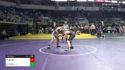 160 lbs 7th Place - Riley Nickel, Fox Valley Elite Wrestling vs Brayden Suchy, Russell Wrestling Club