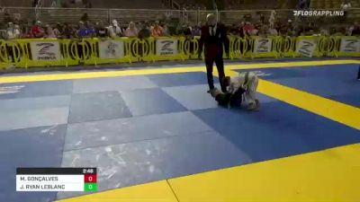 MAVERICK GONÇALVES vs JACOB RYAN LEBLANC 2021 Pan Kids Jiu-Jitsu IBJJF Championship