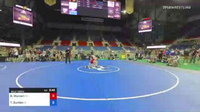 106 lbs Consi Of 8 #2 - Brandon Morvari, Minnesota vs Tyler Durden, Nebraska