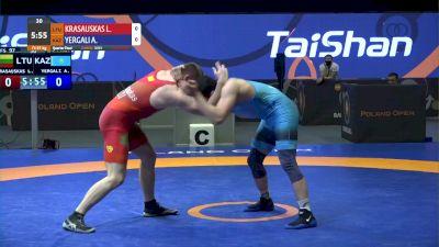 97 kg Quarter-Final -  Lukas Krasauskas, LTU vs Alisher Yergali, KAZ