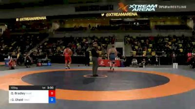 125 kg Quarters - Dominique Bradley, Sunkist Kids Wrestling Club vs Daniel Chaid, TMWC / California RTC