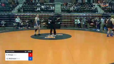 191 lbs Semifinal - Victoria Hinojo, Oklahoma City vs Elisa Robinson, Baker