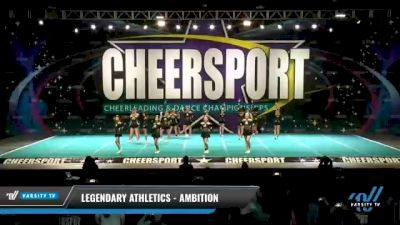 Legendary Athletics - Ambition [2021 L4 Senior Coed - D2 - Small Day 1] 2021 CHEERSPORT National Cheerleading Championship