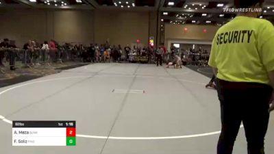 82 lbs Quarterfinal - Aaron Meza, Sunkist Kids/Monster Garage vs Frank Soliz, Pride Wrestling