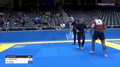 JONATHON KNUTSON vs MICHELE OSSO 2021 World IBJJF Jiu-Jitsu No-Gi Championship