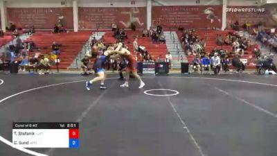 86 kg Consolation - Travis Stefanik, New Jersey RTC vs Calvin Sund, Air Force Regional Training Center