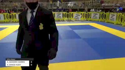 AARYANNA DAMARIS HARRIS vs ANGELA GRACE HIZEY 2021 Pan Kids Jiu-Jitsu IBJJF Championship