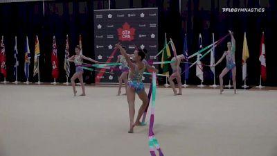 Grace junior FIG group - 5 Ribbons, Grace Rhythmic Gymnastics Club
