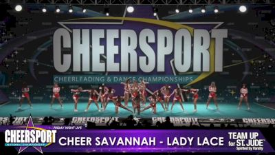 Cheer Savannah - Lady Lace [2020 L6 Senior Small Day 1] 2020 CHEERSPORT Nationals: Friday Night Live