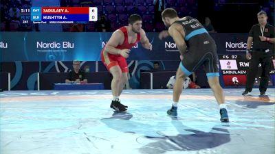 97 kg 1/4 Final - Abdulrashid Sadulaev, Russian Wrestling Federation vs Aliaksander Hushtyn, Belarus