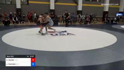 63 kg Quarterfinal - Aidan Nutter, Wisconsin vs Jordan Hamdan, Michigan Wrestling CLub
