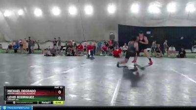 223 lbs Cons. Semi - Levid Rodriguez, Grundy HS vs Michael Degrado, Region Wrestling Academy