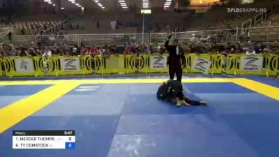 TENSEI MERCER THOMPSON vs KAIMALINO TY COMSTOCK 2021 Pan Kids Jiu-Jitsu IBJJF Championship