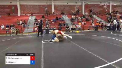 92 kg Consolation - Gabe Christenson, Hawkeye Wrestling Club vs Daulton Mayer, Kentucky