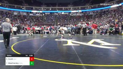 152 lbs Quarterfinal - Ed Scott, DuBois vs Tye Weathersby, Central Dauphin