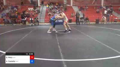 125 kg 5th Place - Brandon Metz, Bison Wrestling Club vs Aaron Costello, Hawkeye Wrestling Club