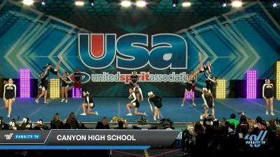 Canyon High School [2020 Large JV Show Cheer Novice (17-36) Day 1] 2020 USA Spirit Nationals