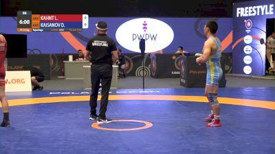 74 kg Match - Lucas Kahnt, GER vs Daniyar Kaisanov, KAZ