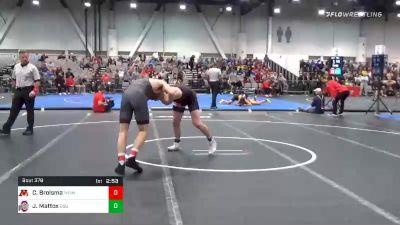 157 lbs Consolation - Carson Brolsma, Minnesota vs Jaden Mattox, Ohio State