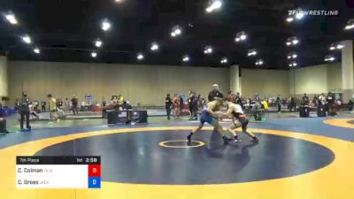 60 kg 7th Place - Christian Colman, Talents WC vs Caleb Gross, Jackrabbit WC