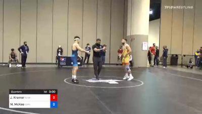 61 kg Quarterfinal - Josh Kramer, Sunkist Kids Wrestling Club vs Mitchell McKee, Gopher Wrestling Club - RTC