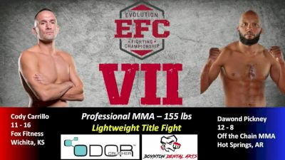Cody Carrillo vs. Dawond Pickney EFC 7 Replay