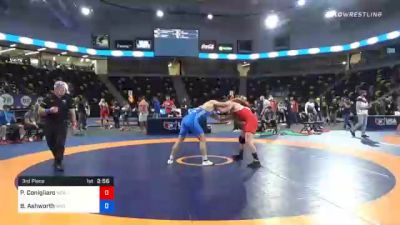 74 kg 3rd Place - Philip Conigliaro, New England Regional Training Center vs Branson Ashworth, Wyoming Wrestling Reg Training Ctr