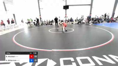 66 kg 7th Place - Brent Nicolosi, Spartan Combat vs Kristofer Bitterman, Virginia Team Predator #2
