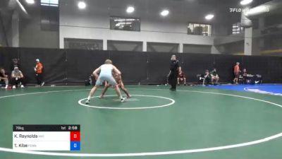 79 kg Consolation - Kevin Reynolds, Viking Wrestling Club (IA) vs Trey Kibe, Pennsylvania