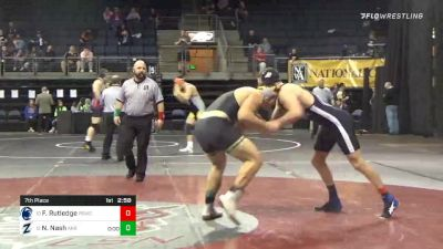 235 lbs 7th Place - Forest Rutledge, Penn State University WC vs Nicholas Nash, University Of Akron
