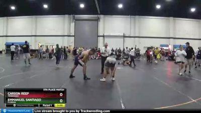 240 lbs 5th Place Match - Emmanuel Santiago, Florida vs Carson Reep, Tennessee