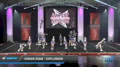 Cheer Zone - Explosion [2021 L3 Youth - D2 - Small Day 1] 2021 JAMfest Cheer Super Nationals