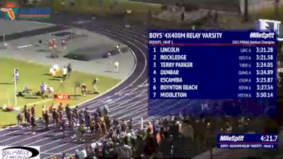 High School Boys' 4x400m Relay 3A, Finals 2