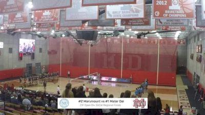 Marymount vs Mater Dei- 2018 Girls SoCal Volleyball Regional Finals