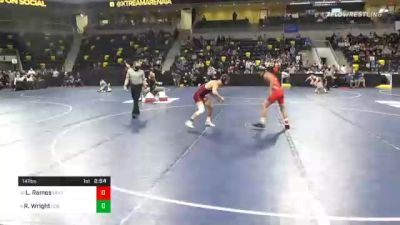 141 lbs Quarterfinal - Luis Ramos, Central College vs Riley Wright, Coe College