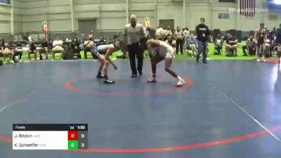 132 lbs Final - Joshua Boykin, Lake Highland Prep vs Kaden Schaeffer, Wyoming Seminary