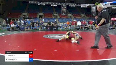 120 lbs Consolation - Corey Gamet, Michigan vs Kyle Biscoglia, Iowa