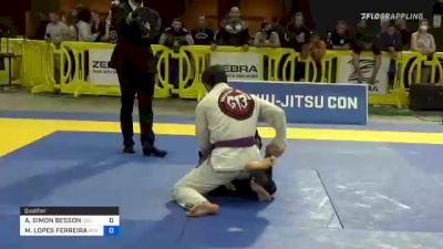 AREN SIMON BESSON vs MATEUS LOPES FERREIRA 2021 Pan Jiu-Jitsu IBJJF Championship