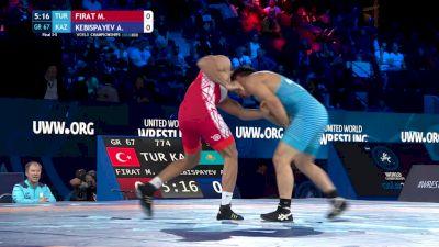 67 kg Final 3-5 - Murat Firat, Turkey vs Almat Kebispayev, Kazakhstan