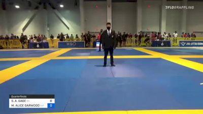 SELINE A. GAGE vs MICAH ALICE GARWOOD 2021 American National IBJJF Jiu-Jitsu Championship